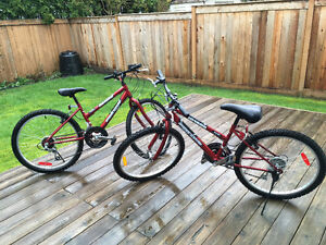 Youth's Bikes for sale - Excellent condition, Hardly Ridden