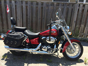 Honda shadow ace 750cc motorcycle