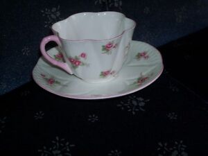 Shelley cup N saucer Bridal Rose