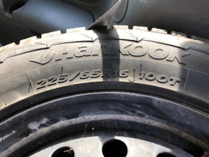 Hankook 255 65r16 100T Snow Tires from Toyota Sienna