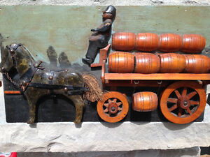 VINTAGE WATERLOO COUNTY ONTARIO FOLK ART WALL CARVING