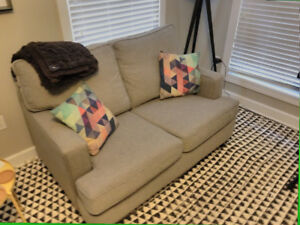Modern / contemporary loveseat only 3 yr old