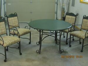patio set and chairs