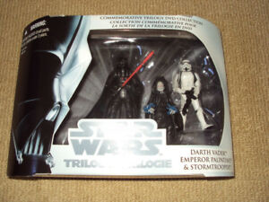 STAR WARS: COMMEMORATIVE TRILOGY DVD COLLECTION 3 ACTION FIGURES