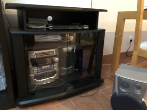 Mini Stereo System with Housing & TV Stand For Sale