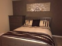 King bed frame and chest of drawers