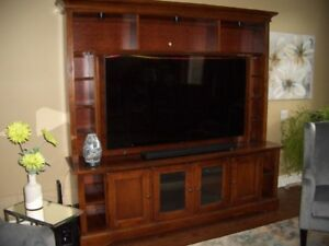 TV entertainment console and bookcase