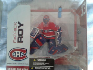 RARE MCFARLANE NHL HOCKEY PATRICK ROY RED AND WHITE JERSEY