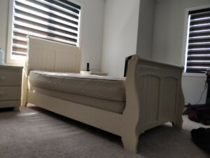 Twin Sized, Ashely Furniture Bed Frame and Mattress