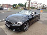 2015 65 BMW 420d CONVERTIBLE M SPORT PLUS AUTO MASSIVE SPEC CAR WITH LOW MILES