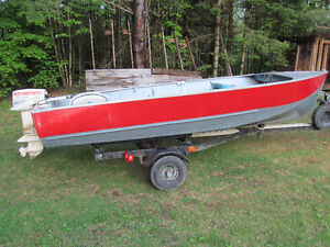 Boat, motor and tilt trailer