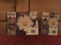 Epson printer ink cartridges. Multipack of 4 plus extra pack of 1 black.