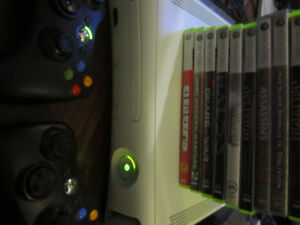 Xbox 360 60gb model with games