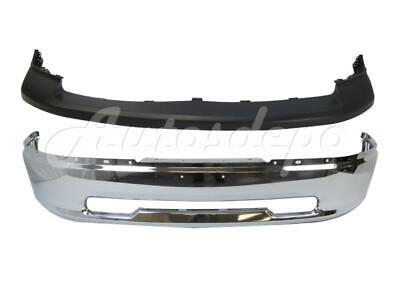 For 2009-2012 DODGE PICKUP RAM 1500 FRONT BUMPER UP PAD CAP BAR CHR W/O FOG HO