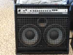 Gallien-Krueger Bass Amp with bonus bass guitar