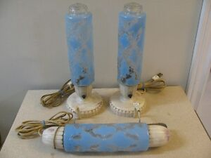 Vintage Bedroom Bullet Lighting Set, Bakelite