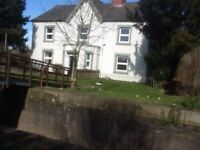 large 4 bed roomed semidetached house with garden and pets allowed