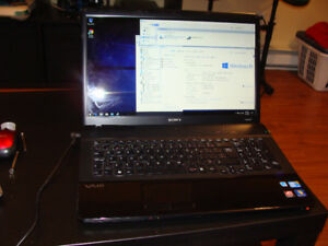 Sony Vaio Intel Core i3  / 4gb ram / 500gb hdd