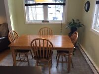 Solid Maple table and chairs set