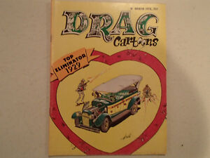 DRAG CARTOONS March 1970. Top eliminator 1929