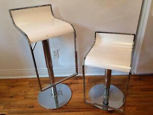 2 Chaises de bar réglables - Structube