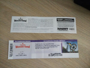 WONDERLAND 2 TICKETS - awesome deal !