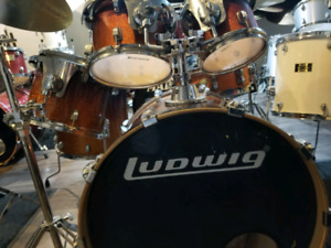 Drum batterie ludwig tout inclut avec 3 cymbales pedales stand g