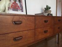 Sold Vintage mid century teak sideboard drawer bank