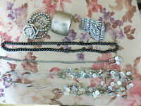 3 bracelets and 3 chains (used)