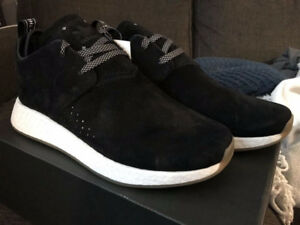 """ADIDAS NMD C2 SUEDE """"CORE BLACK"""" size 9.5"""