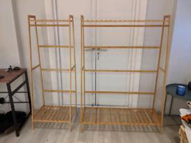 Bamboo clothing rails