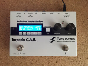Two Notes Torpedo CAB stompbox cab sim - guitar and bass