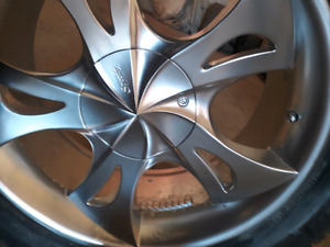 Tire and rims for sale set of four text only