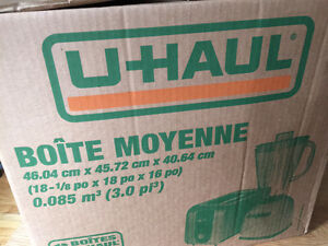 Uhaul and Home Depot Moving boxes!
