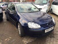 2007 07 Volkswagen Golf 1.4 S 80 5dr [AC] low miles, 12 months Mot 33000 miles
