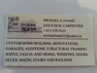 LICENCED CARPENTER 40 YEARS EXPERIENCE AVAILABLE