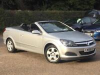 2009 Vauxhall Astra 1.8i 16v Convertible Twin Top Silver only 60228 Miles SUPERB