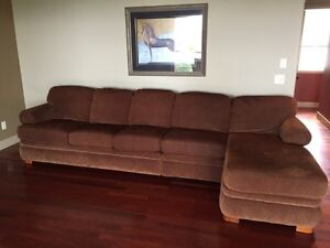 Lazy Boy sofa with chaise lounge and sofa bed
