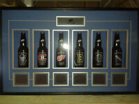 Labatt Blue Original 6 Hockey Beer Bottle Display