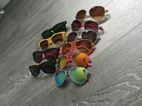 10 pair sunglasses