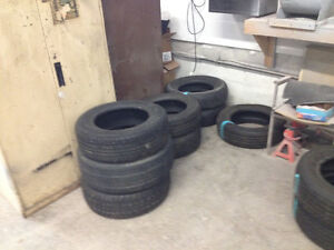 Car tires various sizes 13,14,15,16, 17, 18 , inch sizes.