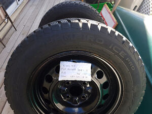 Winter tires & rims 185/65/R14 (4-bolt rims)