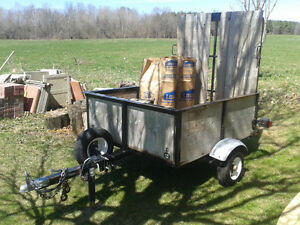 4'x5.5' Utility Trailer With A Ramp