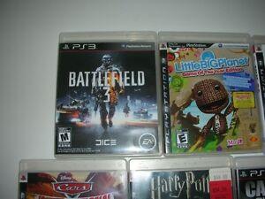 Lot de jeux pour console PS3 en bonne condition et accessoires