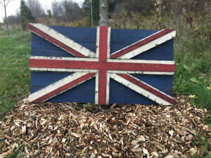 Rustic Handcrafted Flags, Team Flags, Union Jack, Canadian Flag