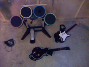 Rock Band 360 accessories