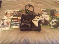 Xbox 360 250 gig with games and 2 pads