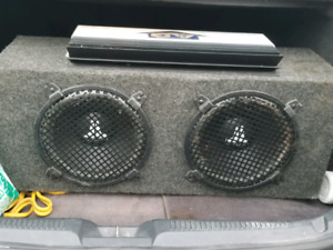 10 inch JL Audio with amp ( adult owned )