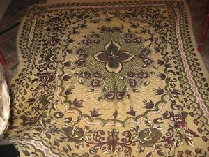 very old tapestry bedspread 89X77or use for wall hanging