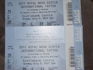 Two Tattoo Tickets for Sunday July 2